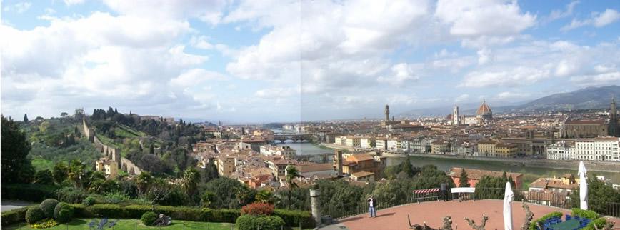 Blick über Florenz vom Piazzale Michelangelo aus