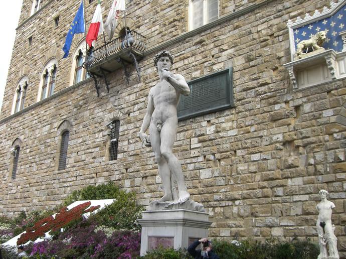 Davidstatue in Florenz am Palazzo Vecchio