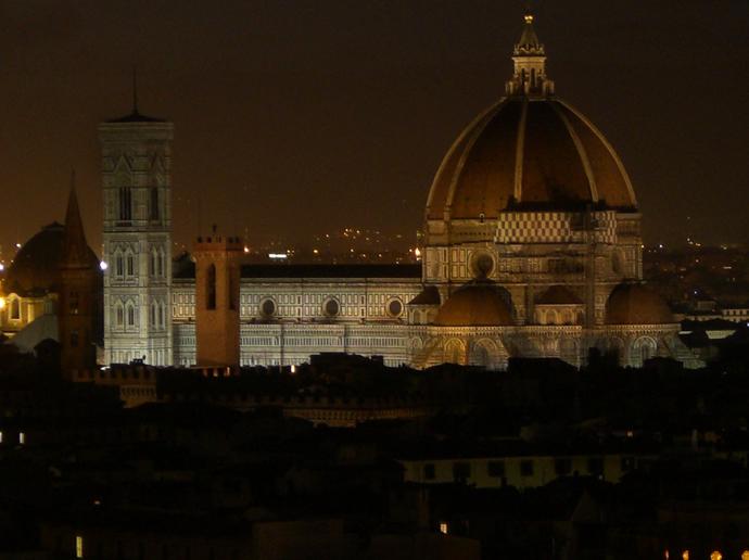 Florenz bei Nacht, Blick auf den Dom