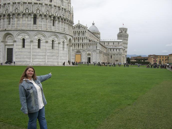 Am schiefen Turm von Pisa