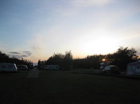 Abend auf dem Campingplatz