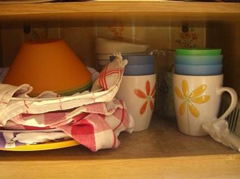 Teller und Tassen