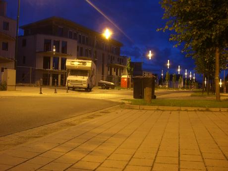 Unser Wohnmobil steht abfahrbereit zum Sprung nach Holland