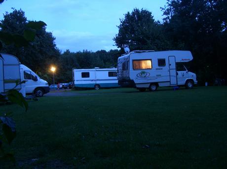 Abendidylle auf unserem Campingplatz
