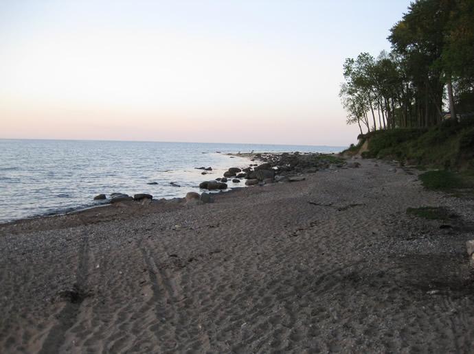 Strand am Campingplatz Ostsee auf Fehmarn