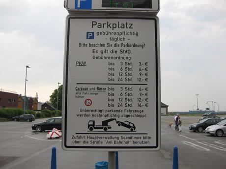 Soviel kann Parken mit dem Wohnmobil kosten...