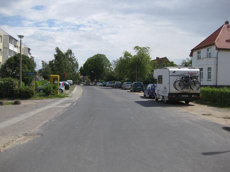 Wohnmobil perfekt geparkt in Kühlungsborn