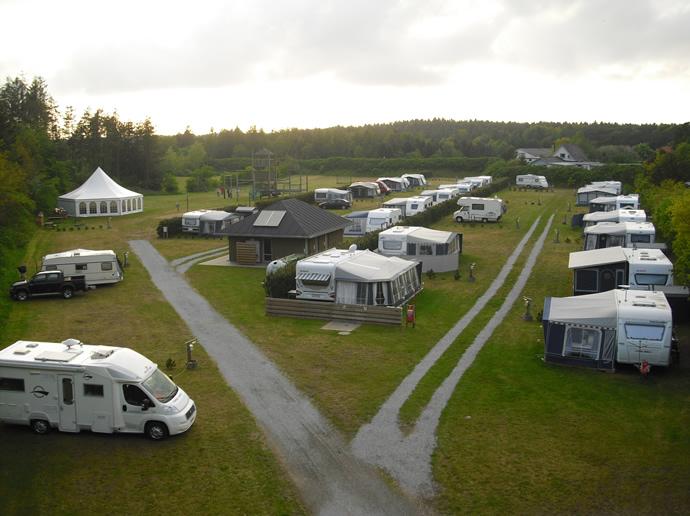 Ausblick auf den Campingplatz Sindal Camping