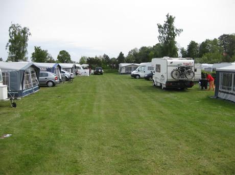 Campingreihe am Morkholt- Campingplatz