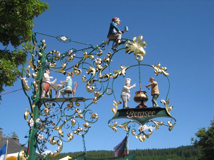 Schmiedearbeit am Restaurant Bergsee in Titisee-Neustadt