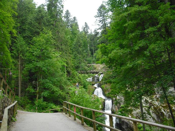 Blick auf die Triberger Wasserfälle