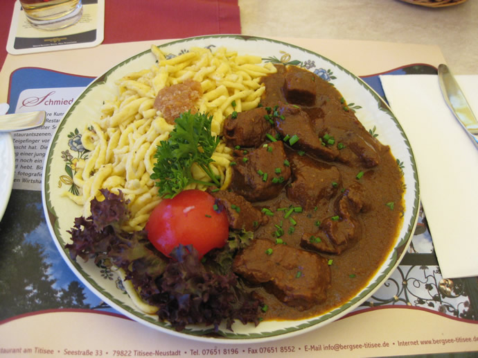 Mittagessen im Restaurant Bergsee-Titisee