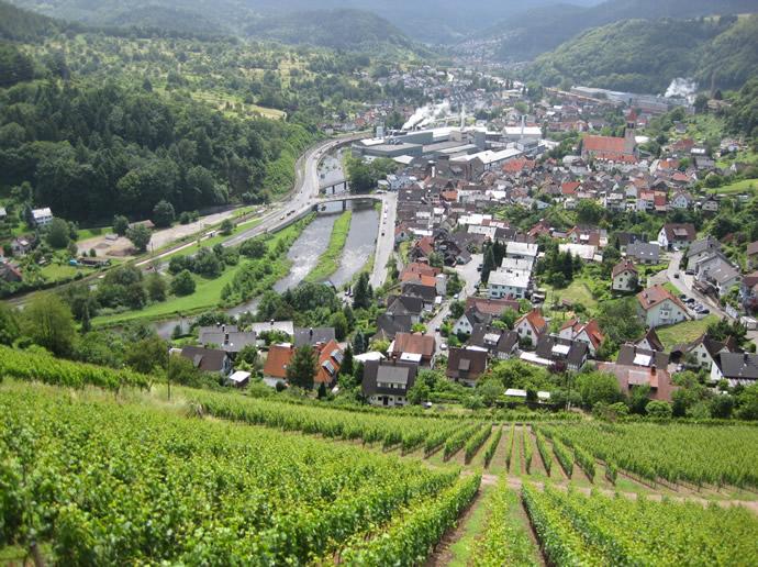 Aussicht in das Tal am Schloss Eberstein
