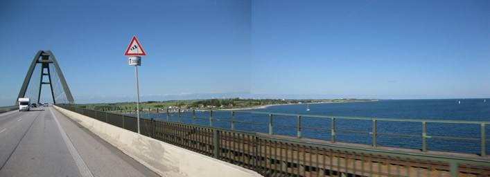 Querung des Fehmarnsund über die Sundbrücke
