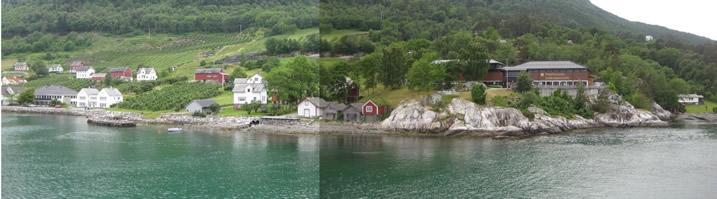 Fjord am Hafen von Utne