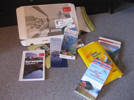 Reiseführer, Tour-Set und Infomaterial für Norwegen