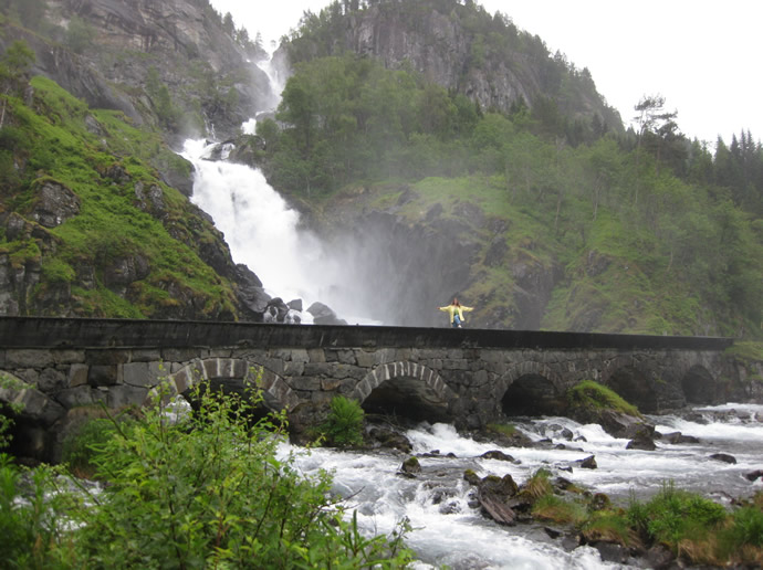 Latefoss- Wasserfall in Norwegen