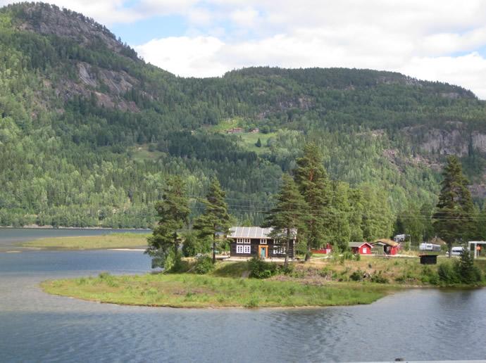Wohnen am Fjord in Norwegen