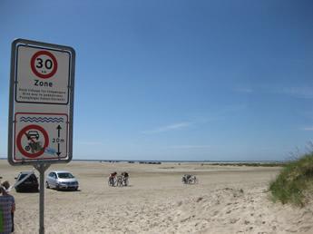 befahrbarer Strand