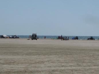 Mit dem Wohnmobil am Strand