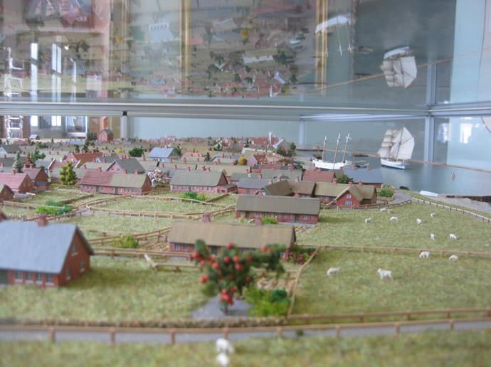 Nordby auf Fanö im Modell