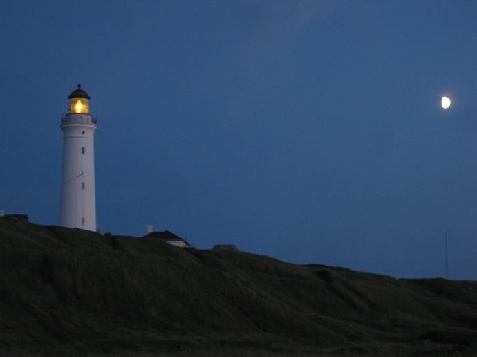 Leuchtturm Hirtshals im Mondlicht