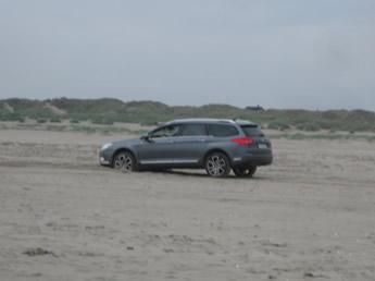 Festgefahren im Sand