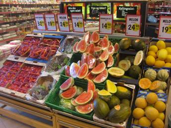 Gemüse und Obst ist teuer in Norwegen