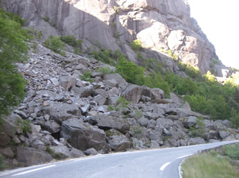 gefährliche Straße in Norwegen