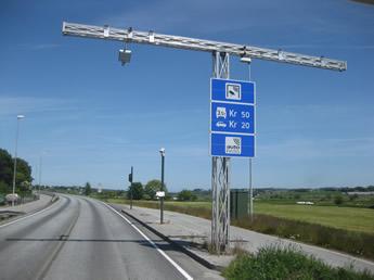 automatische Mautstelle in Norwegen