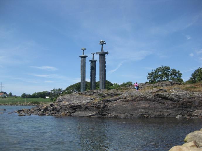 Schwerter im Stein bei Stavanger