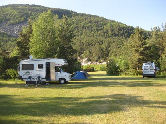 Auf dem Campingplatz Preikestolen mit dem Wohnmobil