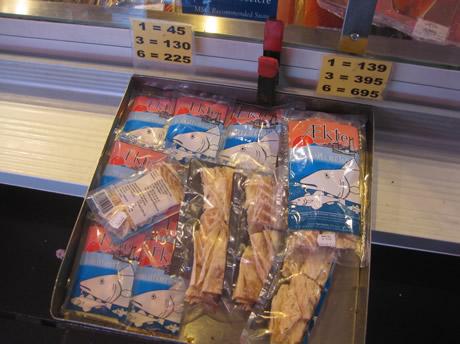tørrfisk Trockenfisch in Tüten
