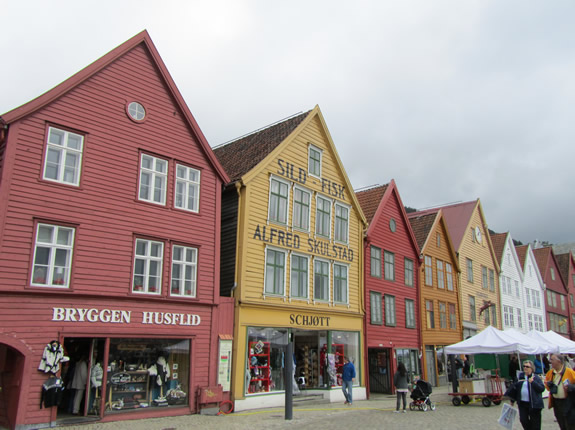 Der Bryggenkai in Norwegen
