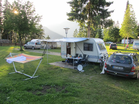 Campingidylle am Campingplatz Wilder Kaiser in Tirol