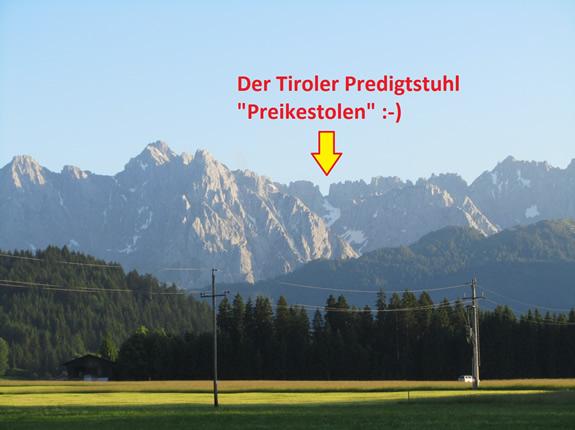 Preikestolen - Predigtstuhl im Kaisergebirge in Tirol