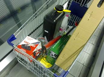 voller Einkaufswagen