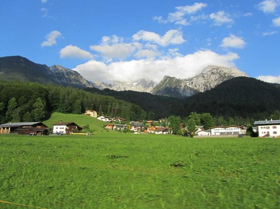 schöner Abendhimmel in Berchtesgaden Königssee