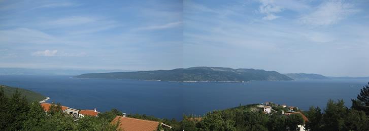 Panoramabild der Kvarner Bucht