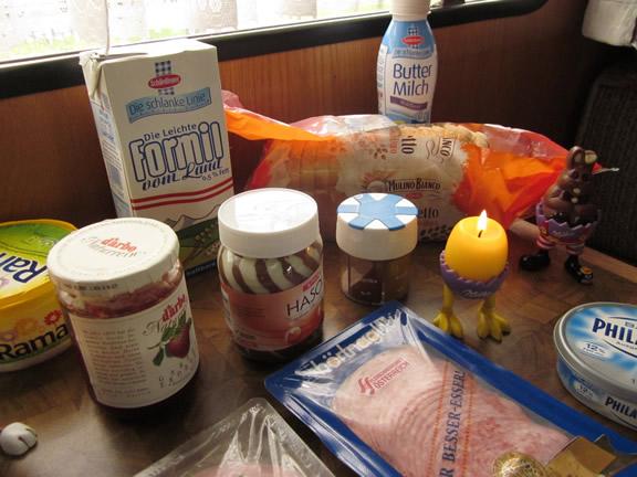Osterfrühstück im Wohnmobil