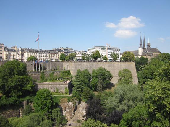 Wehrmauer in Luxemburg