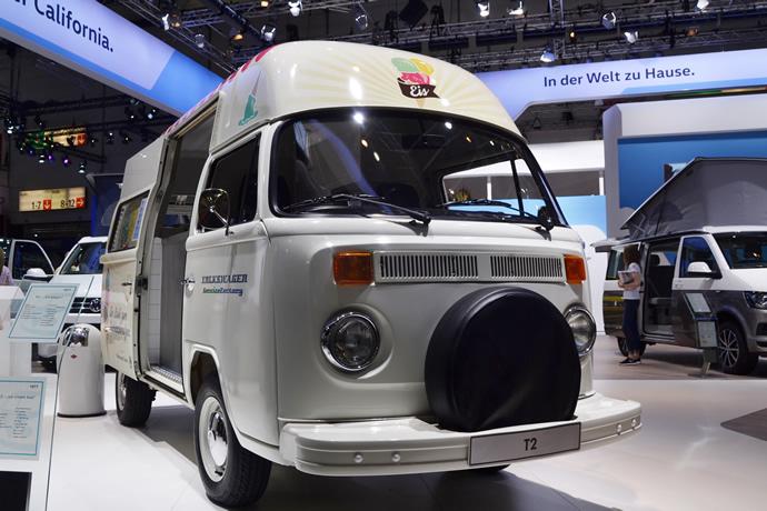 Gratis Eis im T2 von VW auf der Messe