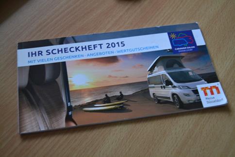 Scheckheft zum CARAVAN SALON 2015