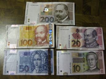 Vorderseite Geldscheine kroatische Kuna