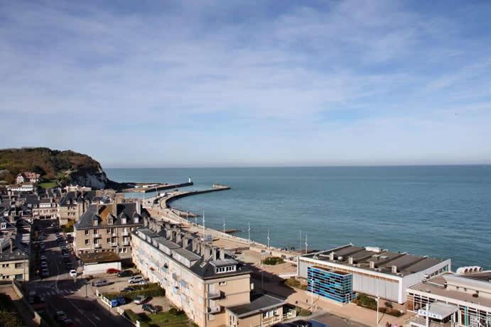 Traumhafter Ausblick über die Bucht von Saint Valery en Caux