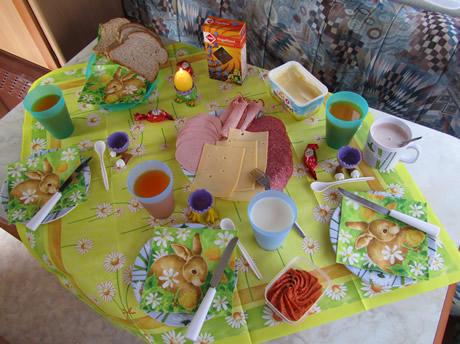 Lecker Frühstück im Wohnwagen