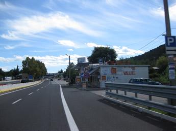 Anfahrt Grenze