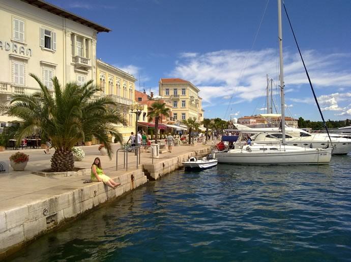Hafenpromenade in Porec