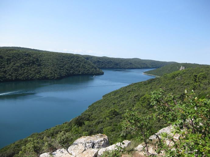 Blicj auf den Limfjord in Kroatien