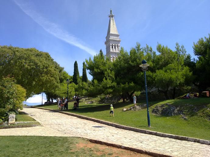 Aufstieg zur Basilika Euphemia in Rovinj